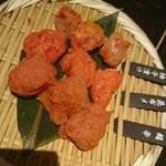 九州 熱中屋 - お通しは明太子3種