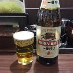 肉屋食堂 たけうち - 瓶ビール(キリン)