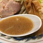 らーめん青竜 - 味噌スープ
