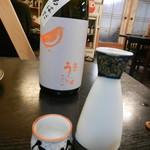 角三 - 熱燗(庭のうぐいす 純米吟醸 ぬるはだ)