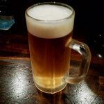 ◯信 - まずはやっぱり生ビール^^