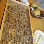 焔蔵 - 天ざる板そば 1580円