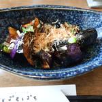 天ぷらと泡 ぱちぱち - 茄子の揚げびたし
