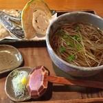 そば工房 篠 - 料理写真:かけ蕎麦&野菜の天ぷら