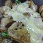 お好み焼き ひでさん - 鉄板焼き(チキンのチーズ焼き)