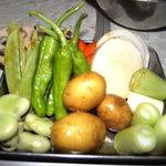 鶏魂鳥福 - 焼野菜盛合せ