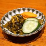 串の坊 - 香の物