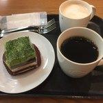 スターバックス・コーヒー - 抹茶ティラミスとドリップコーヒーとソイラテ