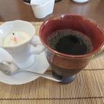 食彩工房 そばの華 - カプチーノプリン、コーヒー