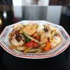Taimurahachihachikyuu - 料理写真:エビとイカのバジル炒め(激辛)