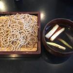 軽井沢 川上庵 - 「鴨せいろ」1720円