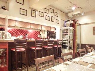 セラヴィーナガノ - 店内のカウンター席の風景です