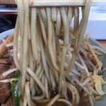 立川マシマシ ロイヤルスープ - 【2017.12.24】加水率やや高めの中太麺。