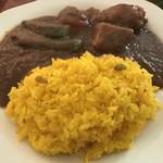 インドラ - 【2017.12.25】チキン&ベジタブルミックスカレー(サラダ付き)¥850