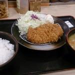松乃家 赤羽店 - 得朝ロースカツセット 豚汁変更