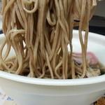 ミニストップ - 海老天そば550円麺アップ