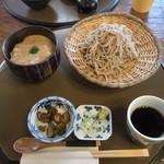 日本料理 筑膳 - 料理写真:そばと自然薯飯セット