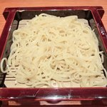沙伽羅 - 三色もり 1260円 の柚子切り蕎麦