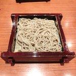 沙伽羅 - 三色もり 1260円 の更科細打ち二・八そば
