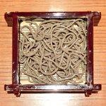 沙伽羅 - 三色もり 1260円 の福井産太打ち田舎もり