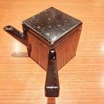沙伽羅 - 三色もり 1260円 の蕎麦湯