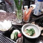 くら羅 - 小鉢や野菜のセット