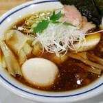 手打式超多加水麺 ののくら - 「特製中華そば(醤油)」(2017年12月29日)
