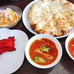インド・ネパール料理 エベレスト - タンドリーチキンクリームチーズナンセット