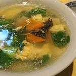華都飯店 - 玉子スープ