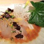川辺 - 「白身魚の洋風刺身」