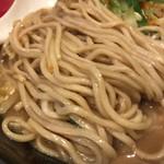 麺屋M - 年末特別企画 3店舗コラボ 鶏白湯熱血味噌 〜Mのしらべ〜 麺アップ