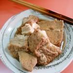 上海軒 - おでん豆腐2本