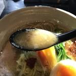 78795638 - 鶏白湯麺 スープアップ