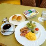 カフェ&レストラン マーブル - アメリカンブレックファスト(1,080円)
