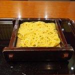 沙伽羅 - 三色もり 1400円 の柚子切り蕎麦