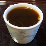 沙伽羅 - 三色もり 1400円 の蕎麦湯