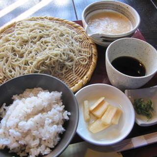 蕎舎 - 料理写真:[せいろ」と「麦とろ飯」を!