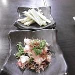 Temmambashikushikatsugojouya - セロリ、クリームチーズ