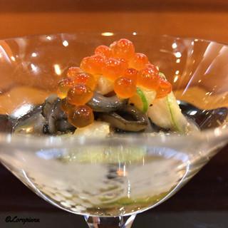 八重さわ - 料理写真:いくらに海鼠の胡麻酢和え