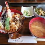 食のうおぬま 大前や - 料理写真:大海老天丼