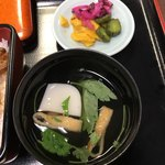 うなぎ・日本料理 ゑびす家 - 肝吸いとお新香