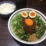 濃厚担々麺はなび - 料理写真:味玉入り元祖台湾混ぜそば ライス