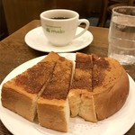 コーヒーハウス マキ - シナモントーストとブレンドコーヒー
