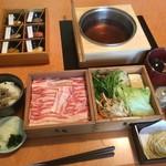 黒豚料理 寿庵 - 黒豚塩しゃぶランチ2592円