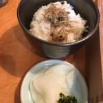 黒豚料理 寿庵 - 御飯と漬物