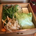 黒豚料理 寿庵 - 野菜類たっぷり