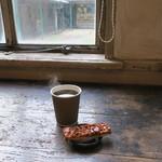 トラベリング コーヒー - コーヒー&(さらさ焼菓子工房の)ナッティー バー1