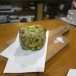 庵蔵 立ち喰い蕎麦バル - かき揚げ