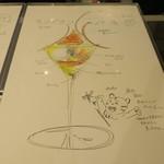 ジェラート専門店 SUGITORA - モンブランパフェのイラスト