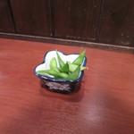 ばかなべ 浜幸 - お通し(枝豆)